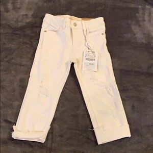 New white Zara jeans